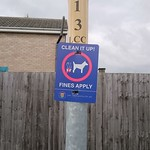 South Kesteven District Council coats of arms on a lamppost sign thumbnail