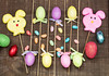Easter Decorations Display (Transient Eternal) Tags: pink blue decorations orange holiday rabbit bunny bunnies grass yellow easter spring basket candy background sugar celebration eggs sweets woven decorate decorated hardboiled holyweek gettogetherchildren