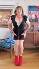 Red booties (Trixy Deans) Tags: hot cute sexy classic tv highheels cd crossdressing tgirl heels corset transgendered crossdresser crossdress shortskirts sexylegs transsexual classy shemale shortskirt sexyblonde shemales xdresser sexyheels crossdresse trixydeans sexytransvestite