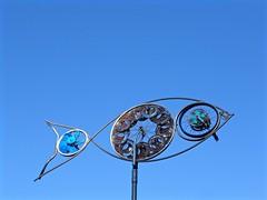 Flying Fish (sights and thoughts) Tags: bicycle parts weathervane publicart orangepark metalsculpture flyingfish southsanfrancisco southcity sanmateocountygroup ametalartgroup