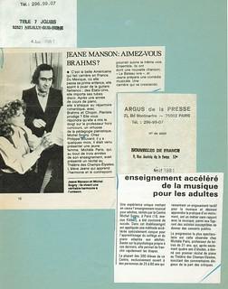 MICHEL SOGNY PRESSE TELE 7 JOURS 1981