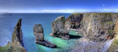 Re: Stacks (pauldunn52) Tags: blue castle beach wales rocks martin teal stach cliffs east range pembrokeshire