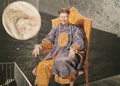 The Last Mandarin Meditates Under the Full Moon (joannmuench) Tags: moon art collage mixedmedia surrealism chinese surreal fullmoon collageart expressionism mandarin kimono meditation surrealistic throne emperor robes expressionistic artcollage sternfaced desertloca joannmuench