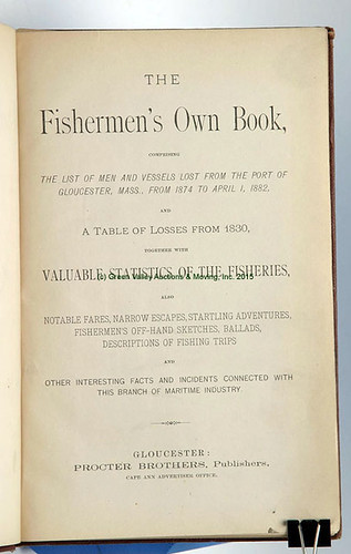 1882 Fisherman's Book - $165.00 (Sold June 19, 2015)