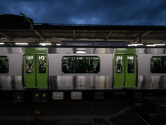 Glare in Dark (H.H. Mahal Alysheba) Tags: railroad station japan lumix tokyo snapshot wide lumixg 714mmf40 gx7