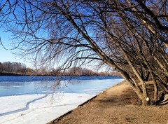 26 March.Today (Serge 585) Tags: winter naturaleza snow ice nature water river march spring aqua frost natural russia nieve noel neve neige russian fro freddo froid