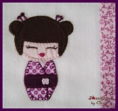 Imagem 067 (Joanninha by Chris) Tags: baby handmade artesanato beb kokeshi bordado feitoamo enxovalmenina enxovalbeb panosdeboca aplicaodetecidos