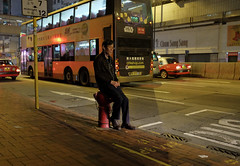"""alone ... am to midnight"" (hugo poon - one day in my life) Tags: bus hongkong iso3200 waiting solitude alone colours midnight northpoint x70 citynight kingsroad longnight"
