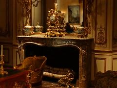 New York. French salon in the Metropolitan Museum of Art. (denisbin) Tags: new art clock museum french fireplace salon marble metropolitanmuseumofart garniture frenchclock yorkmetropolitan
