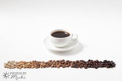 Coffee Spectrum (Photos By Michi) Tags: food brown black green coffee dark cafe rainbow raw spectrum drink beverage bean roast caffeine coffeebean