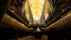 Kathedraal Sevilla - Gotisch koorgestoelte uit 1475-1479 (Frandalf) Tags: sevilla spanje kathedraal koor gotiek andalusi 1479 1475 houtsnijwerk koorgestoelte