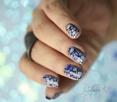 Efeito Esfumado e carimbado (Walquiria R.P.) Tags: mani nails manicure unhas nailart stampingnailart unhascarimbadas drknails