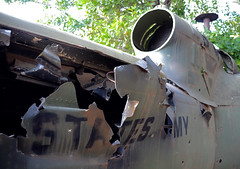Vietnam war aircraft wreckage (Brian Howell) Tags: war bell vietnam huey helicopter era gunship iroquois uh1 assaulthelicoptercompany 197thahc
