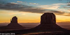Sunrise, Monument Valley Navajo Tribal Park (IanLyons) Tags: travel arizona usa awesome scenic northamerica monumentvalleynavajotribalpark themittens merrickbutte eastmitten oljatomonumentvalley