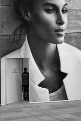 Street-Theme (PIXXELGAMES - Robert Krenker) Tags: vienna wien she street door portrait blackandwhite woman white beauty face fashion open snapshot makeup fujifilm blackman blacknwhite portret fujinon bnw biancoenero