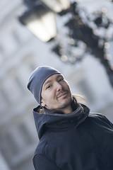 Blue Portrait (Tunde Molnar) Tags: city portrait people urban male monochrome model outdoor depthoffield