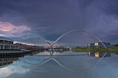 Stormy sunset at infinity. (paul downing) Tags: sunset reflections nikon stormy 12 filters hitech stocktonontees gnd rivertees pd1001 infinitybridge pauldowning d7200 pauldowningphotography