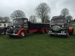 Great Pair (South Strand Trucking) Tags: show sabrina tractor truck vintage lorry commercial restored erf unit 6wheeler dropside pchoward