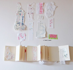 pages (contemporary embroidery) Tags: pages sketchbook ledger paperscraps embroideredsamples