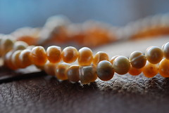 uneven pearls (Hayashina) Tags: necklace twist pearl macromondays