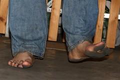 dirty party feet 545 (dirtyfeet6811) Tags: feet barefoot dirtyfeet partyfeet
