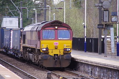 66002 at Morpeth (stephen.lewins (1,000 000 UP !)) Tags: northumberland morpeth railways sheds class66 ews ecml railfreight 66002