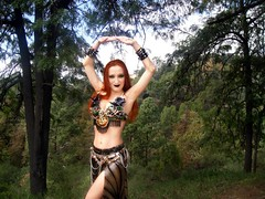 Black metal belly dance (Sofia Metal Queen) Tags: beauty forest star goldberg model dancing sofia gothic goth bellydancer dancer queen exotic rocker bellydance diva golddress blackmetal redhaired gothicbellydance metalfashion metaldancer gothicdancer sofiametalqueen metalbellydance