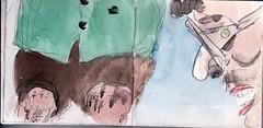 im Bierzelt war die Temperatur am Siedepunkt angekommen (raumoberbayern) Tags: summer bus pencil subway munich mnchen sketch drawing sommer tram sketchbook heat ubahn draw bleistift robbbilder skizzenbuch zeichung