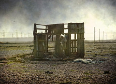 In need of renovation (radleyfreak (offline for a while)) Tags: abandoned kent shingle hut dungeness wreck headland