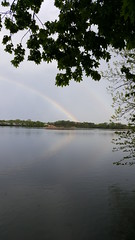 Rainbow over creek (jaym812) Tags: storm weather clouds newjersey rainbow nj westville