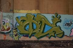 OC (TheGraffitiHunters) Tags: street bridge red brown white black green art yellow underpass graffiti woods colorful paint cement tan spray spongebob oc plankton