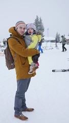 Amelie's first trip to the snow (Madleeeen) Tags: family winter snow ski cold austria skiing hats sunny amelie grandparents kaiser wilder sledge sledging