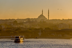 Istanbul *Explored* (PixPep) Tags: sunset water skyline boat moody cityscape atmosphere istanbul mosque h pixpep
