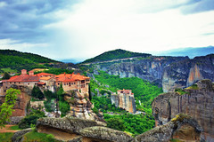 Meteora (deppy_kar) Tags: sky mountains green church nature stone architecture clouds buildings landscape greek temple nikon rocks cloudy religion greece monastery nikkor dslr orthodox meteora orthodoxy trikala kalabaka thessaly thessalia d5200     nikond5200