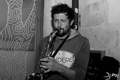 Happy sax man (Dji Ani) Tags: music guy beard sax saxophone musique saxo musicien