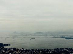 Rio de Janeiro by air (monica.marks10) Tags: sea brazil mountains brasil riodejaneiro boats ponte brigde montanhas likepainting