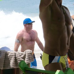 IMG_1134 (danimaniacs) Tags: shirtless hairy man hot sexy guy beach armpit pecs hat tattoo cap stud
