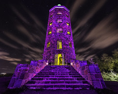 prince purple - minnesota duluth engler tower - night stars (Dan Anderson.) Tags: park longexposure light tower monument minnesota stone night clouds stairs stars observation movement purple rip windy prince 1999 tribute mn duluth purplerain littleredcorvette raspberryberet whendovescry princerogersnelson englertower letsgocrazy