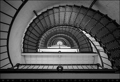 Anastasia Island Lighthouse St. Augustine Florida (Dave Allen Photography) Tags: blackandwhite bw lighthouse geometric beach monochrome architecture stairs island coast florida circles interior indoor coastal fl anastasia staugustine concentric anastasialighthouse