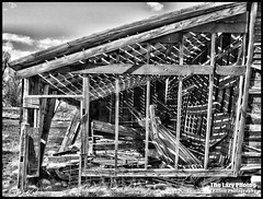 April 2016 - Light and shadows in Ten Sleep barn (lazy_photog) Tags: light white black barn skeleton photography shadows sleep down falling lazy worn ten weathered wyoming elliott photog andersons collapsing 042016andersonsbarn