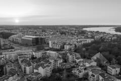 Cityscape (juliaboldt87) Tags: sunset germany deutschland cityscape view outdoor stadt architektur gebude schwarz rostock ausblick stadtbild hoch weis berblick hhe einfarbig strasen monocrom tag180 365fotosorg