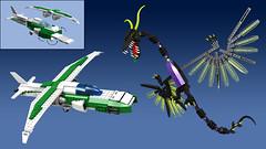 Titan Jet Air Battle (Oky - Space Ranger) Tags: monster digital robot force power lego pacific designer go contest super transformers vehicle voltron titan rim rangers mecha kaiju mech rift rifter