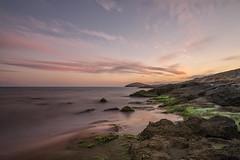 AMP_5419_1 (Amparo Hervella) Tags: longexposure sunset sea espaa cloud reflection water rock landscape atardecer mar spain agua nikon reflejo cartagena nube roca largaexposicin calblanque d7000 nikond7000