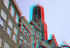 Domtoren Utrecht 3D (wim hoppenbrouwers) Tags: 3d utrecht domtoren anaglyph stereo redcyan
