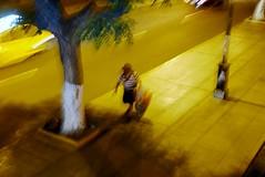 Pedestrains #76 (SJ Finn) Tags: street shadow blur colour night movement time sjfinn