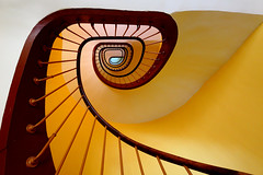Stairs 20 (Glassholic) Tags: abstract color yellow wow spiral stair 500v50f staircase minimalism escalier guise graphism familistère