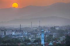 Sunset At Islamabad, Pakistan (Feng Wei Photography) Tags: travel pakistan sunset horizontal misty outdoors asia pk hazy islamabad colorimage islamicculture indiansubcontinent islamabadcapitalterritory