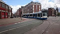 Trams op Koningsdag 16 (Peter ( phonepics only) Eijkman) Tags: city holland netherlands amsterdam transport nederland tram rail rails trams strassenbahn noordholland gvb tramtracks streetcars combino nederlandse