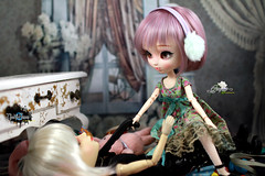 Looks like she has Picked! (dreamdust2022) Tags: man sexy love smart loving dark hug doll pretty power control heart magic innocent mother evil lord virgin will strong pullip pure magical darling playful cuddles grape tender fearless nightmares lusting taeyang thothamon