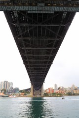Sydney Harbour Bridge (i_divo) Tags: shadow water canon landscape waterfront outdoor sydney australia sydneyharbour sydneyharbourbridge 2015 newsouthwhales steelarchbridge 5dmkiii photosbymch